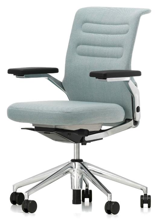 Chaise de bureau bleu glacier