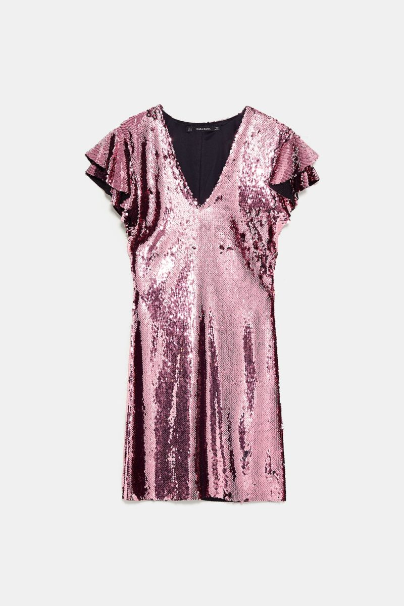 Robe paillettes rose