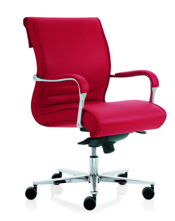 Chaise de bureau design rouge