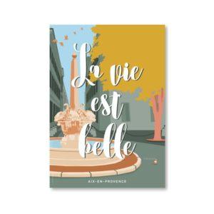 Les affiches et la carte postale « Aix-en-Provence » est le visuel incontournable pour votre déco !