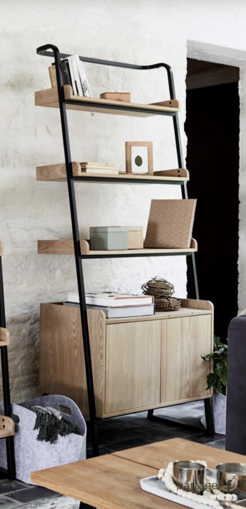 étagère en bois, étagère industrielle