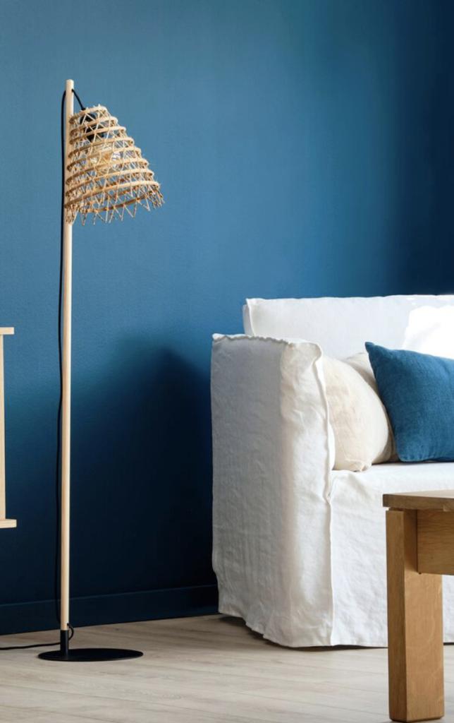 lampadaire fibre de palmier, lampadaire bohème