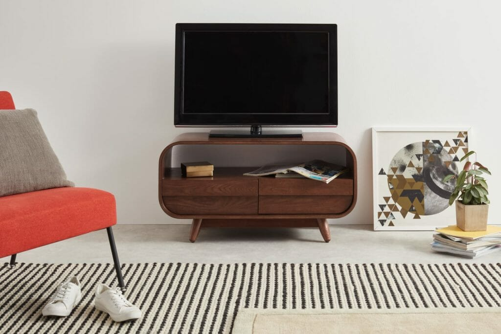 meuble tv massif, meuble tv bois
