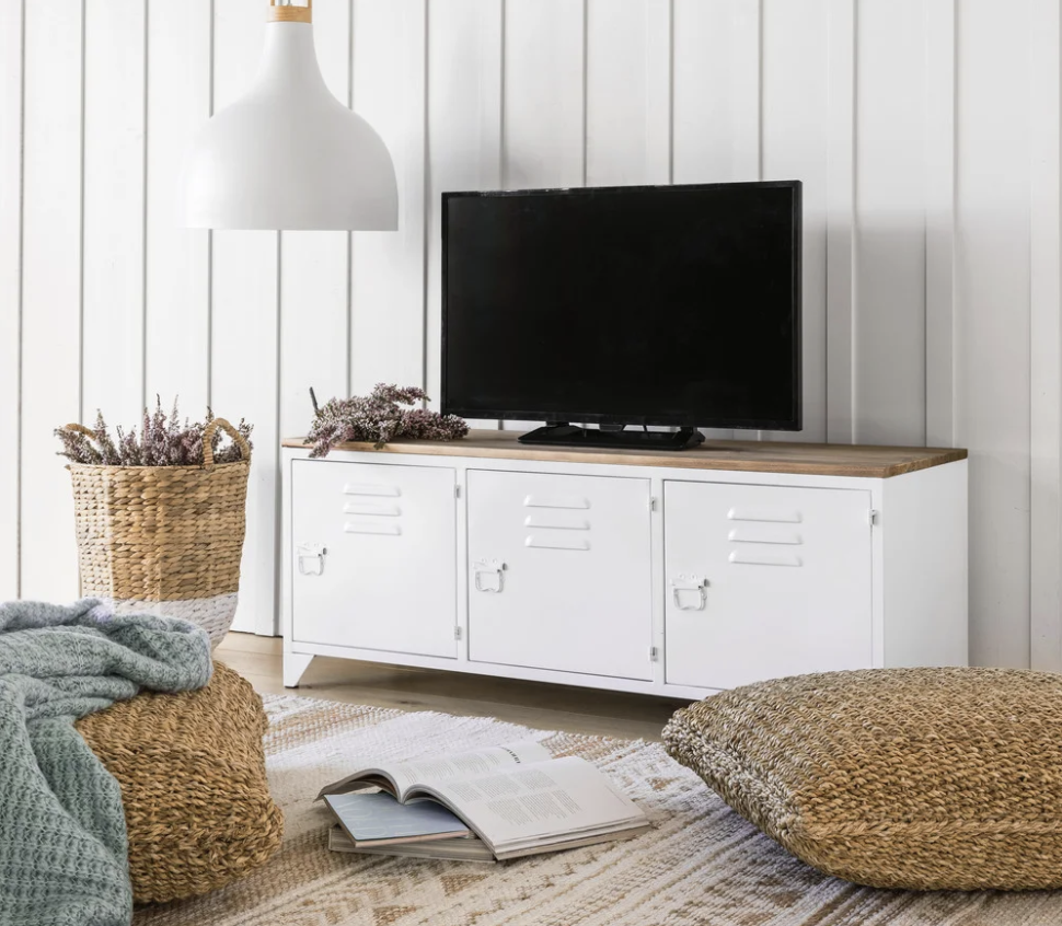 meuble tv industrielle, meuble tv métal