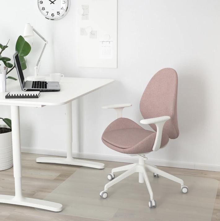 chaise de bureau rose, chaise de bureau