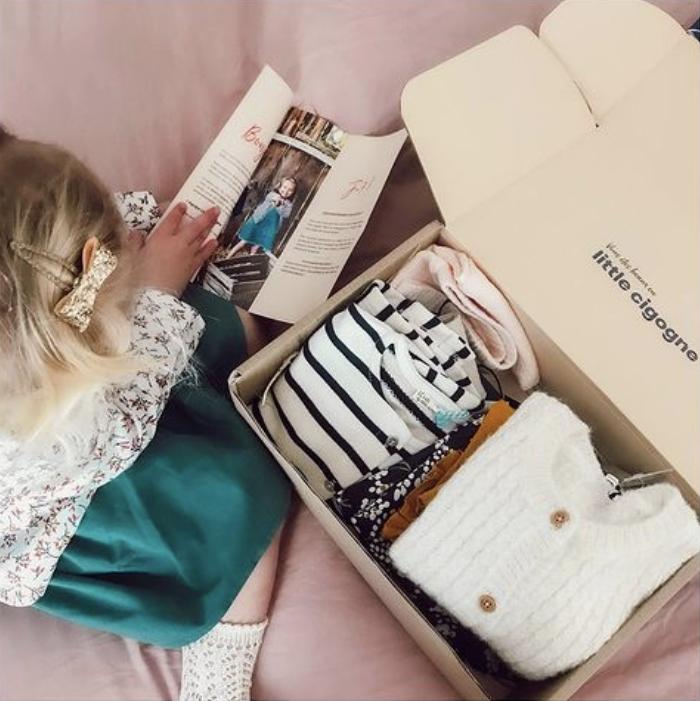 little cigogne, box pour enfants, box vêtements pour enfants