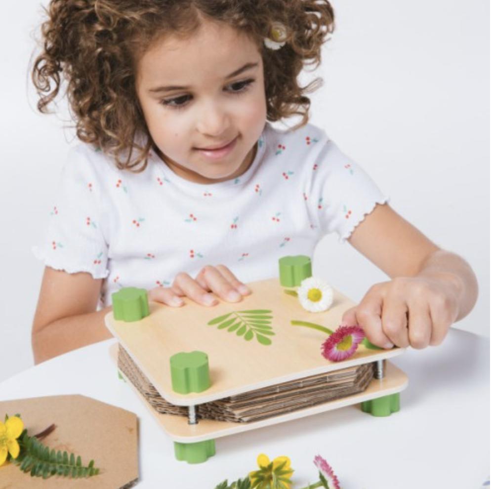 herbier, presse fleur, jeu pour enfants