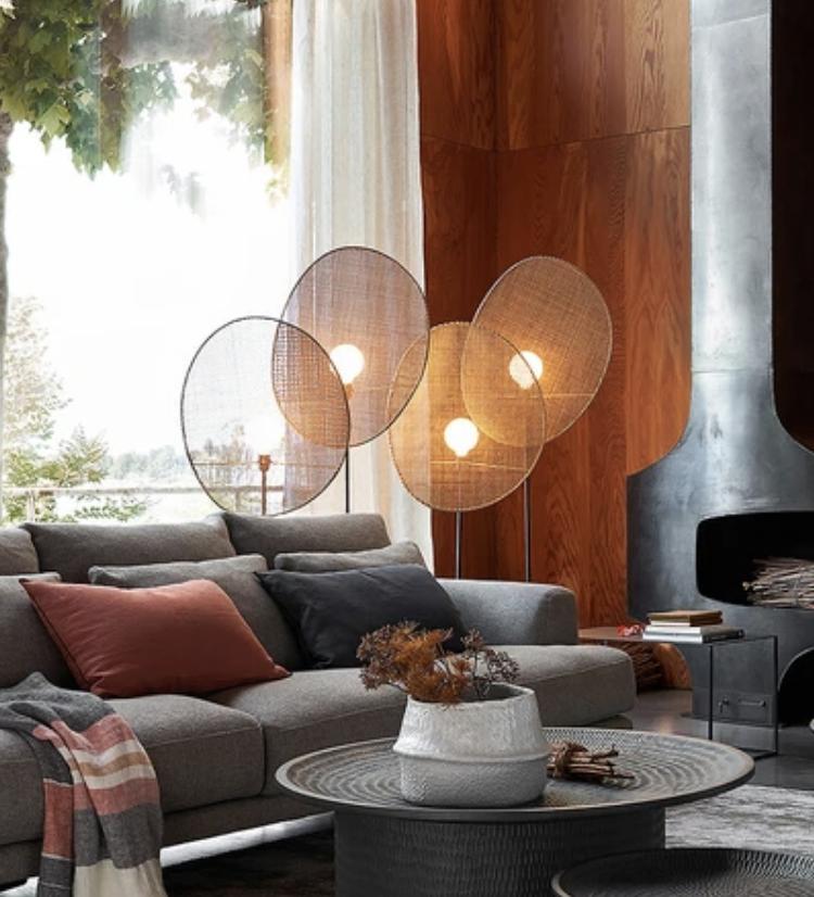 lampadaire feuille, lampadaire design