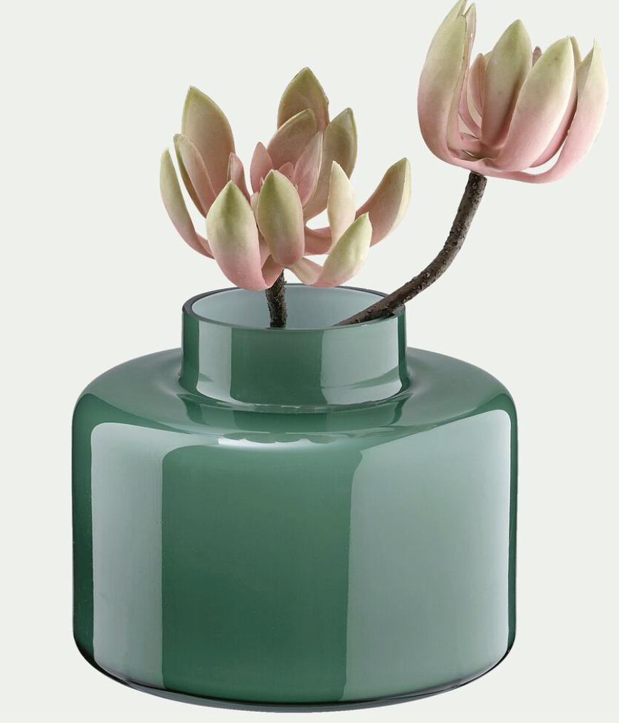 vase en verre, vase vert, vase alinea