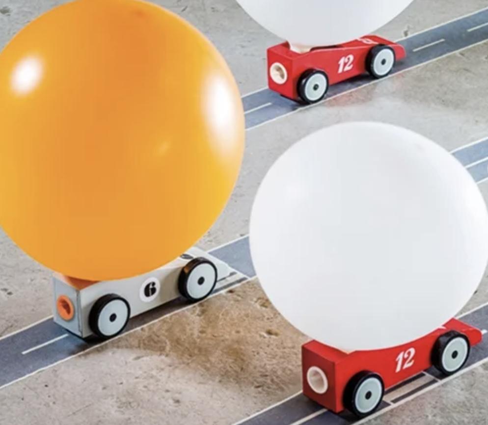 voiture à propulsion, voiture pour enfant, propulsion à l'air