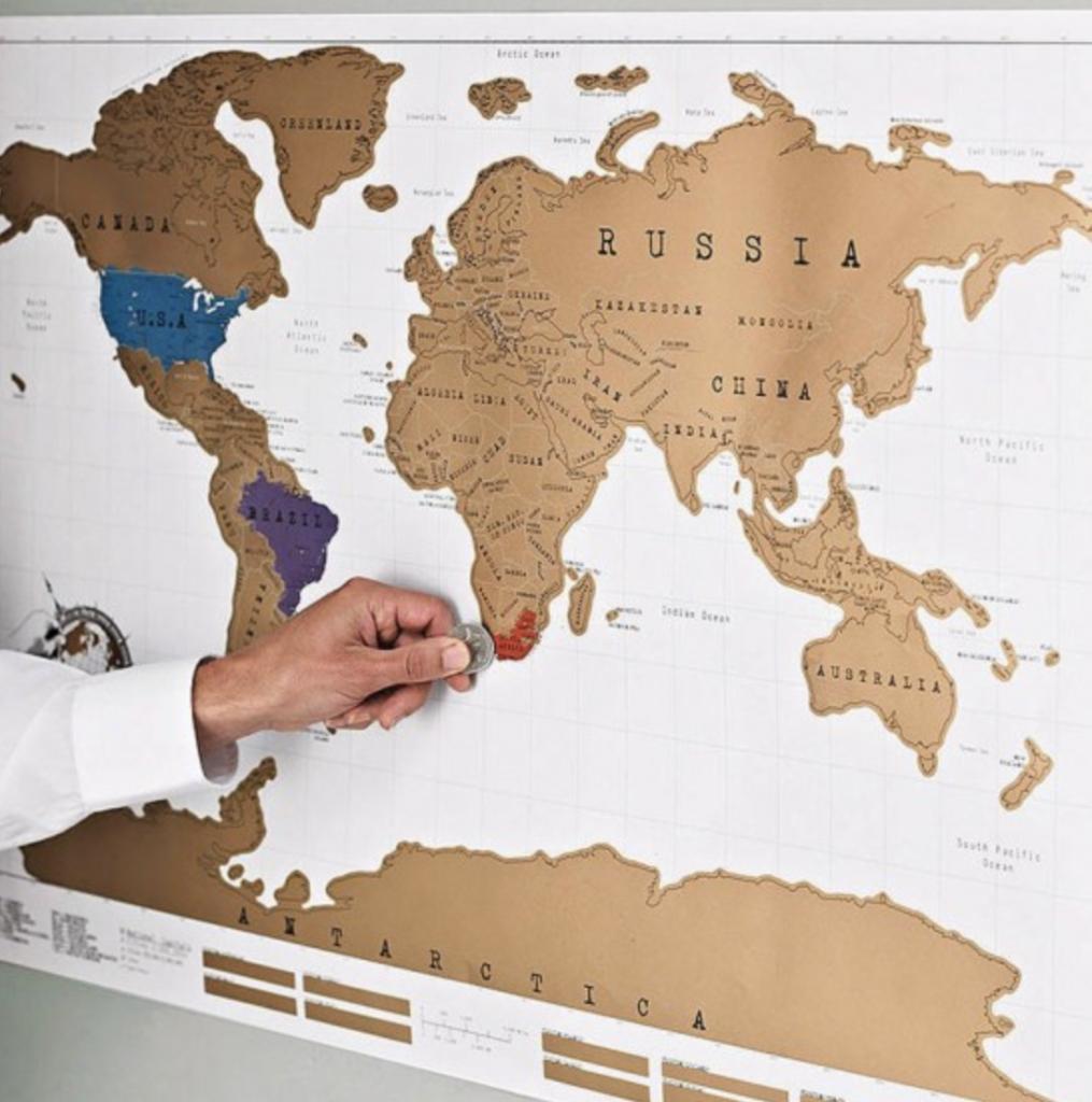 carte du monde à gratter, carte du monde